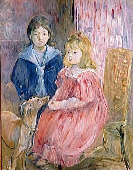 Les enfants de Gabriel Thomas par Berthe Morisot (1841–1895), musée municipal de l'Evêché, Limoges, France