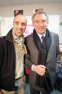 F. Bayrou et Driss Ettazaoui lors de la visite à Mantes