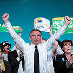 François Bayrou à la fin du rassemblement de Rouen tous droits reservés ©Soazig de la Moissonnière