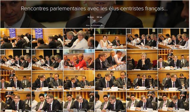 Rencontres parlementaires avec les élus centristes français...